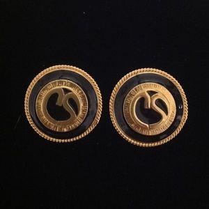 St. John Gold Tone Clip On Earring